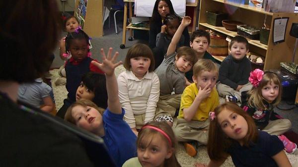 Nikki Jones' preschool class at Porter Early Childhood Development Center in Tulsa.
