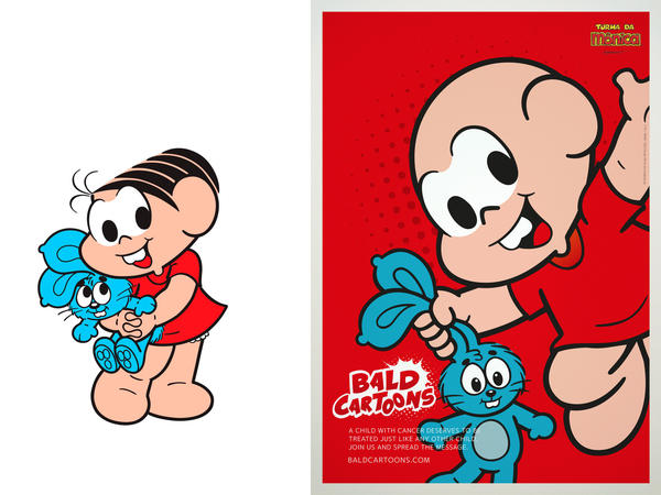 Monica from Monica's Gang, one of Brazil's most popular cartoons, got a makeover as part of the Bald Cartoons campaign.