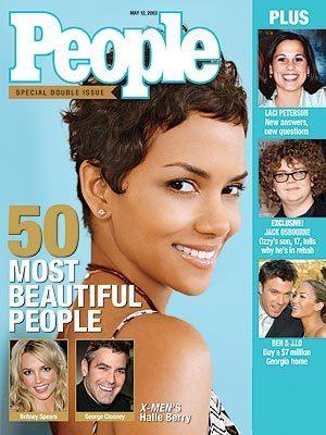 "Halle Berry was the cover model for the 2003 ""Most Beautiful"" issue."