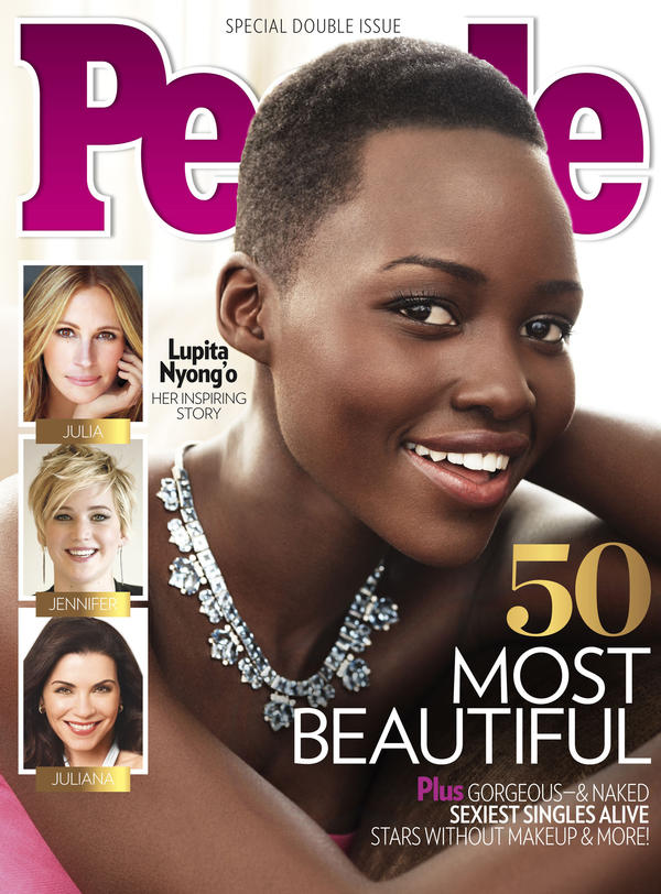 <em>People</em> is calling actress Lupita Nyong'o the most beautiful woman in the world. She's the third black woman to get the magazine's title.