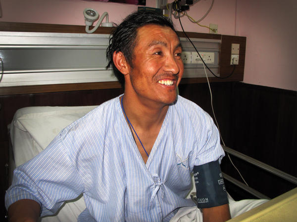 Kaji Sherpa, 39, survived the April 18 avalanche on Mount Everest. He says he will never set foot on the mountain again and work as a farmer instead.