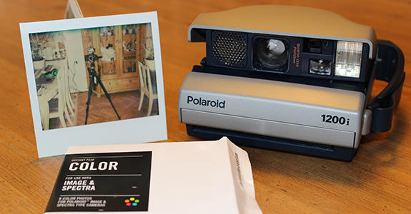 If it's been a long time since you've seen a Polaroid, you can remind yourself what they sounded like in Nilsson's exhibit. (Torsten Nilsson/Museum of Work)