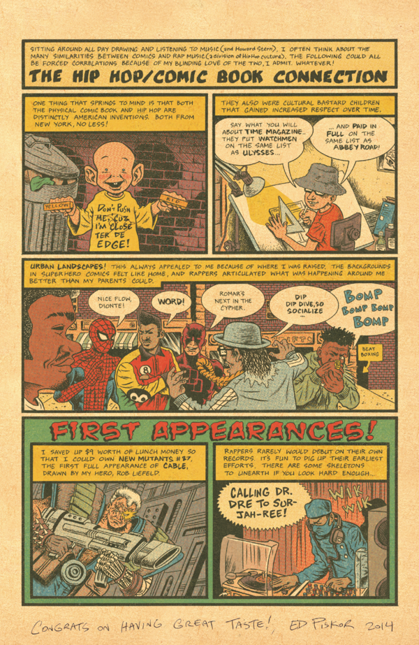 <em>Hip Hop Family Tree</em> explores a variety of themes around the history of hip-hop.