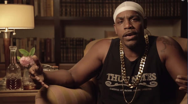 "Comedian Greg Edwards presents brief book reports of classic literature using a hip-hop vernacular in the popular web series ""Thug Notes,"" created by Jared Bauer. (Screenshot)"