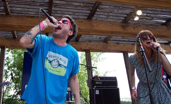 Puerto Rican rocker AJ Davila leads his band Terror Amor as they tear through a raucous set of garage rock and Caribbean punk.