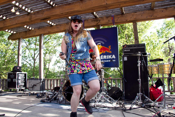 Monterey, Mexico's Niña Dioz brought a large crowd to the smallest stage for the rapper's electro-cumbia music.