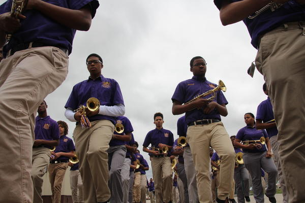 The Edna Karr High School marching band had fewer than 40 members four years ago. Today, more than 80 students march in the band.