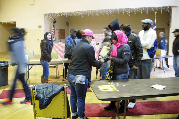 The program is designed specifically for nonviolent felonies. The first stop after waiting in line is inside a church to officially surrender.