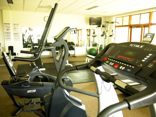 The funds from the rising costs of court fees in places like Allegan County, Mich., are used to help pay for all sorts of court-related items, including this fitness center for county employees.