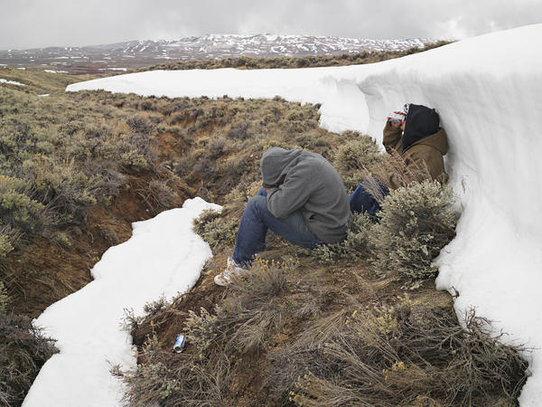 <em>Greg and Zane after Horn Hunting, Farson, Wyoming 2011</em>