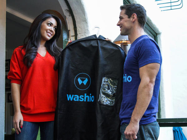 Washio offers on-demand laundry pickup and delivery for $1.60 a pound.