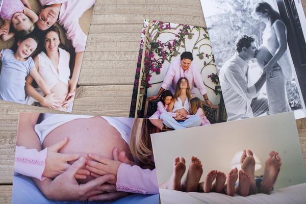 A collage of family photos of Melissa Sherak Glasser.