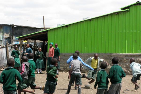 Boys play in Nairobi, Kenya.