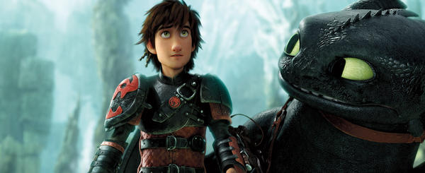Advanced animation and audio software help bring Hiccup (Jay Baruchel) and his pet dragon, Toothless, to life in <em>How to Train Your Dragon 2.</em>