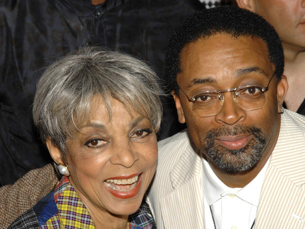 Actress Ruby Dee and director Spike Lee attend a special 20th anniversary screening of <em>Do the Right Thing</em>, in New York, in 2009. Dee died Wednesday at age 91.