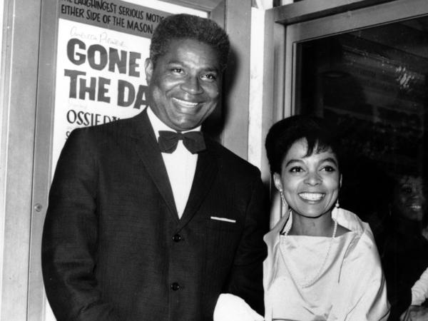 Ossie Davis and Ruby Dee at the opening night gala of their film <em>Gone Are the Days!</em> in 1963. The movie was based on Davis' play <em>Purlie Victorious</em>.