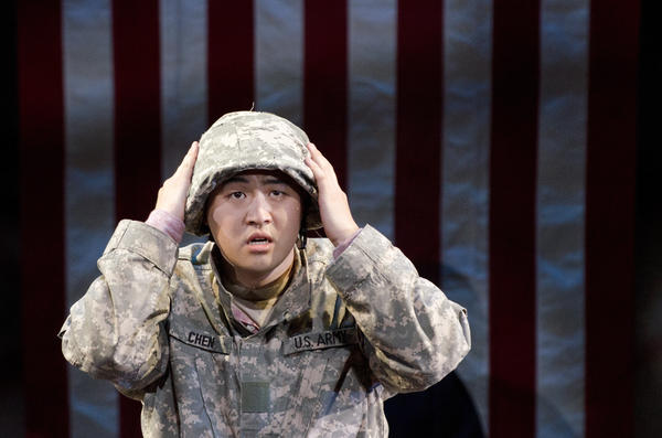 Andrew Stenson plays Pvt. Danny Chen in <em>An American Soldier</em>, a new opera about the hazing and death of the Chinese-American soldier from New York City.