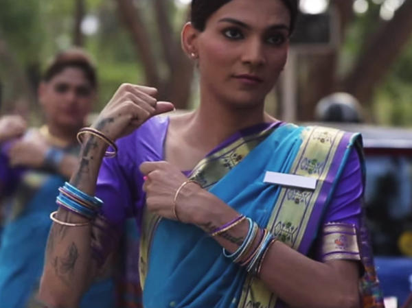 India's transgender community, known as <em>hijras,</em> stars in an ad promoting seat belt use across the country.