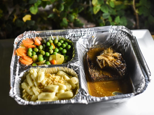 Chef Michael Anthony's TV dinner for the MOFAD Spring Benefit Dinner on May 7.
