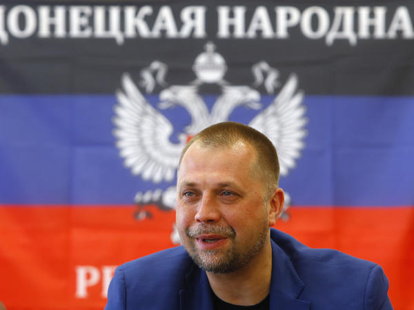"Alexander Borodai, the prime minister of the self-proclaimed ""Donetsk People's Republic,"" attends a news conference in Donetsk on June 21. Borodai announced Monday that his forces would honor a temporary Ukrainian cease-fire."