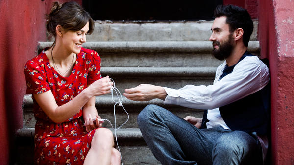 Singer-songwriter Greta, played by Keira Knightley in <em>Begin</em> <em>Again</em>, is left alone in Manhattan when her college sweetheart Dave, played by Adam Levine, leaves her after signing a major record deal.