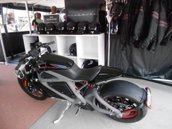"""Harley Davidson's """"Livewire,"""" the company's foray into the electric motorcycle market. (Latoya Dennis)"""