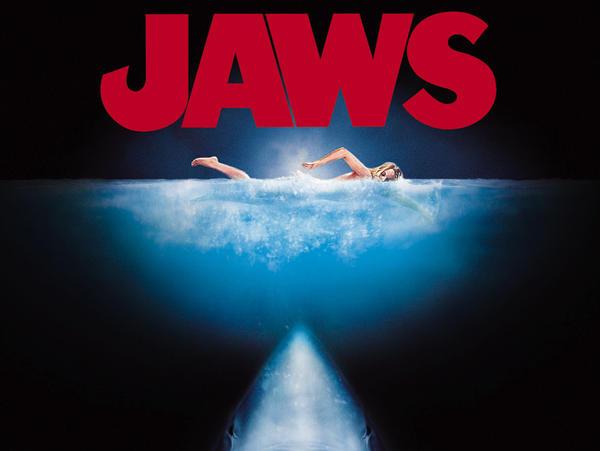 A promotional image for <em>Jaws</em>.