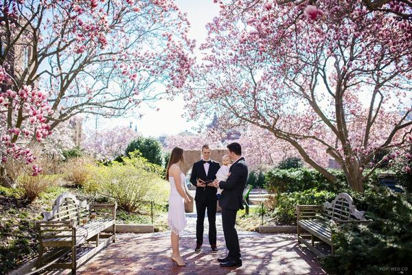 Kate Dehaas and Andrew Radcliffe, along with their daughter Hannah, traveled from Canada to get married in D.C.