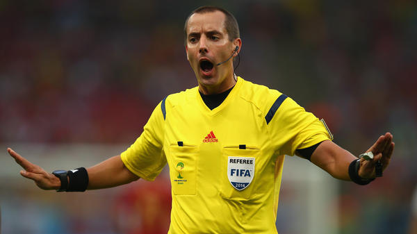 Referee Mark Geiger will be the U.S. presence at the World Cup semifinal on Tuesday.