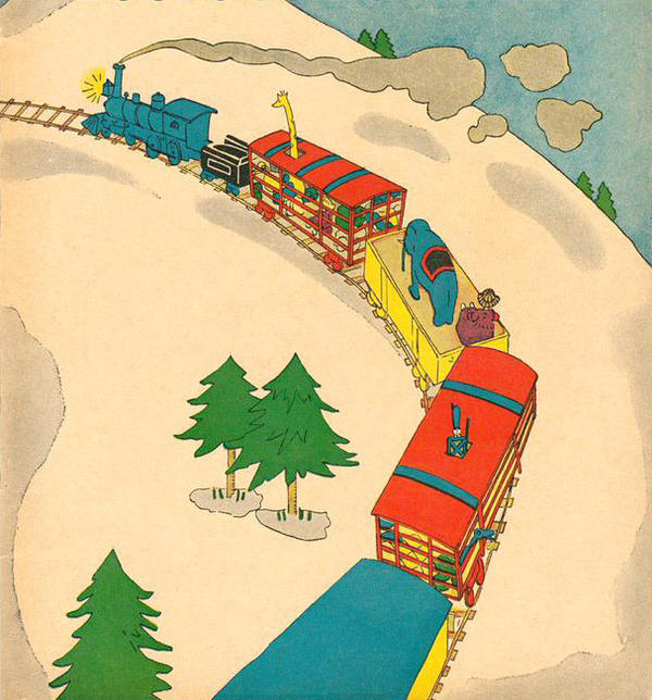 Lois Lenski illustrated Platt & Munk's 1930 edition of <em>The Little Engine.</em>