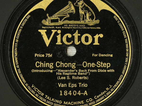 "An album cover for Lee S. Roberts and J. Will Callahan's 1917 song ""Ching Chong."""