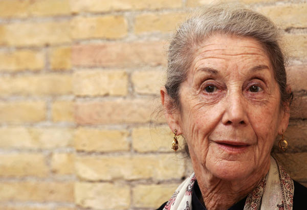 South African novelist Nadine Gordimer is pictured during a literature festival in Rome on May 29, 2006. (Tiziana Fabi/AFP/Getty Images)