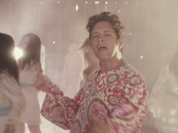 """The Polyphonic Spree, in a scene from the band's new video for the song """"Hold Yourself Up."""""""