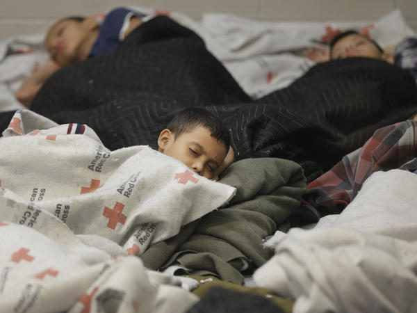Child detainees in a holding cell at a Border Patrol facility in Brownsville, Texas. Some human smugglers who bring children across the Rio Grande make sure to treat their clients well.