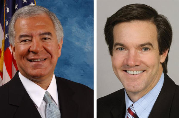 In West Virginia's third congressional district, Republican state senator Evan Jenkins, right, will try to unseat Democratic incumbent Nick Rahall. (U.S. House of Representatives / West Virginia Legislature)