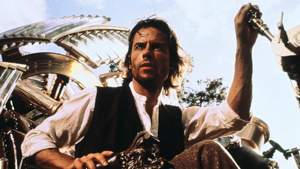 Guy Pearce aboard his time machine in the 2002 movie version of H.G. Wells' classic novel.