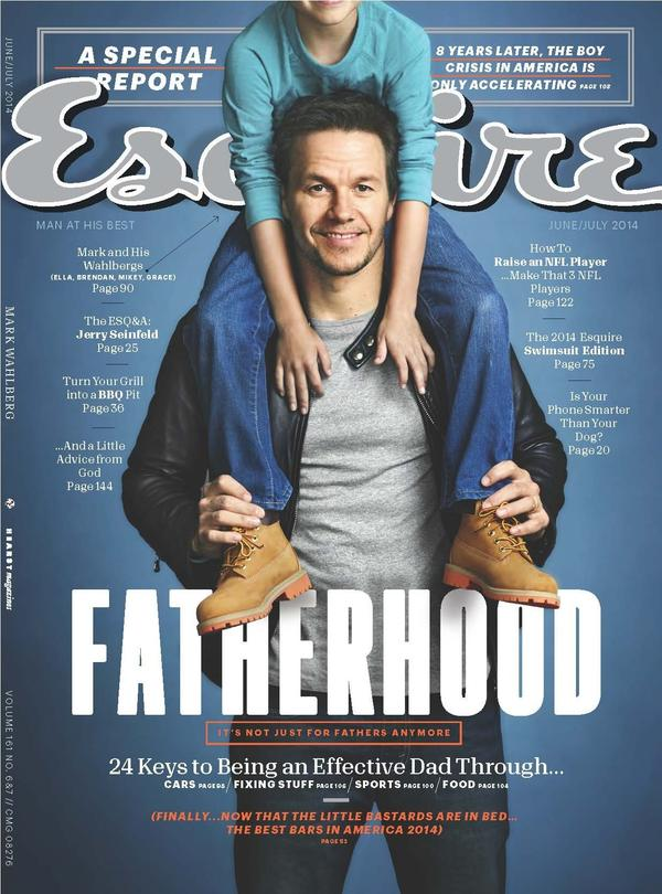 """A 2014 cover featuring Mark Wahlberg. When editor-in-chief David Granger was young, he says he considered <em>Esquire</em> a """"guidebook toward becoming a man."""" In more than 80 years, that guidebook has changed dramatically — and stayed the same in some surprising ways."""