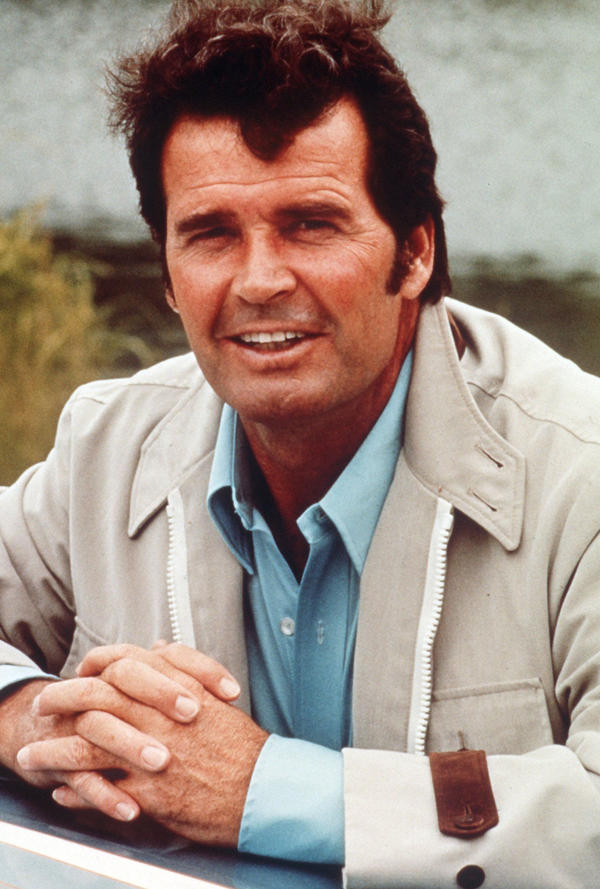 James Garner plays Jim Rockford in <em>The Rockford Files</em> in a 1988 photo.