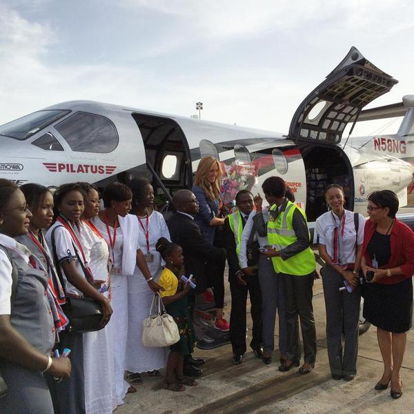 Amelia Rose Earhart arrives in Dakar, Senegal. (Courtesy Amelia Rose Earhart)