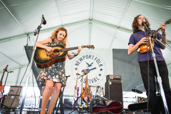"""Once you play the Newport Folk Festival, you graduate from bars, right?"" —Mandolin Orange<br /><br />"