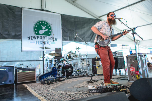 "Newport in 2014: Tall Tall Trees' Mike Savino uses his ""banjotron"" for a song about Internet stalking.<br /><br />"