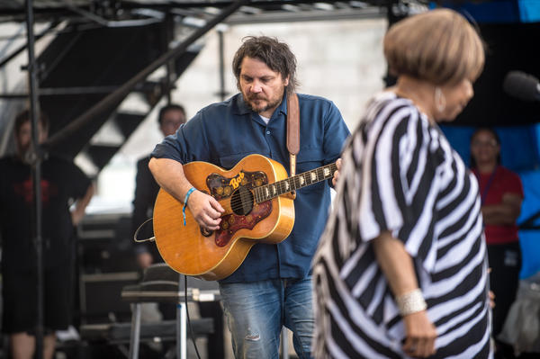 Mavis Staples was everywhere at Newport! Here she is with Jeff Tweedy.<br /><br />