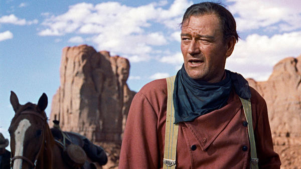 John Wayne — seen here in 1956's <em>The Searchers</em> — was an icon of traditional Hollywood manliness.