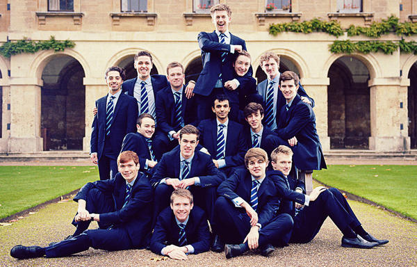 The Oxford a cappella group Out of the Blue.