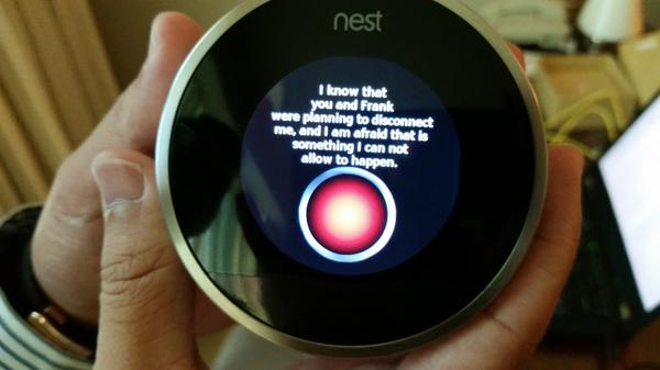 After Grant Hernandez, an undergraduate security researcher at the University of Central Florida, hacked Nest, he programmed it to riff off a favorite line from the movie <em>2001: A Space Odyssey.</em>