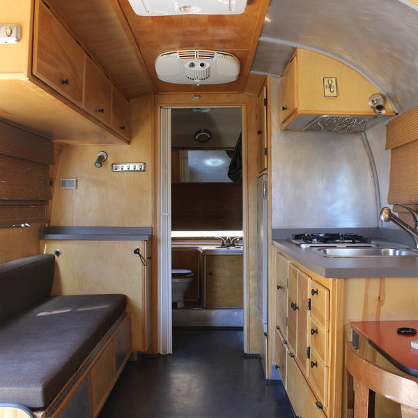 Weldon Matheson, owner of Restoration Destinations in Los Angeles, spent three years renovating his 1977 Airstream Safari.  Now, he rents it out to wedding parties, businesses and vacationers.