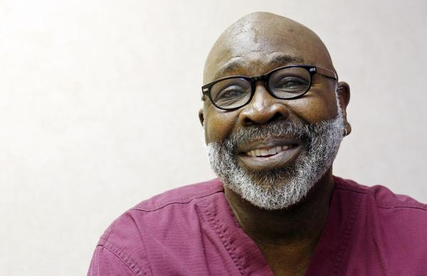 Dr. Willie J. Parker, pictured here on April 15, 2013, travels from Chicago about once a month to work at the Jackson Women's Health Organization clinic. (Rogelio V. Solis/AP)