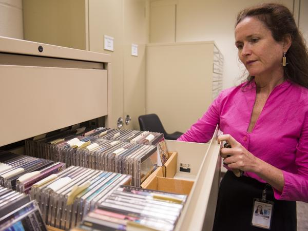 Fenella France and other researchers at the Library Of Congress are studying how fluctuations in temperature and humidity influence the way CDs age.