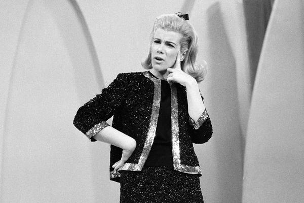 Rivers performs her stand-up comedy on <em>The Ed Sullivan Show</em> in 1966.