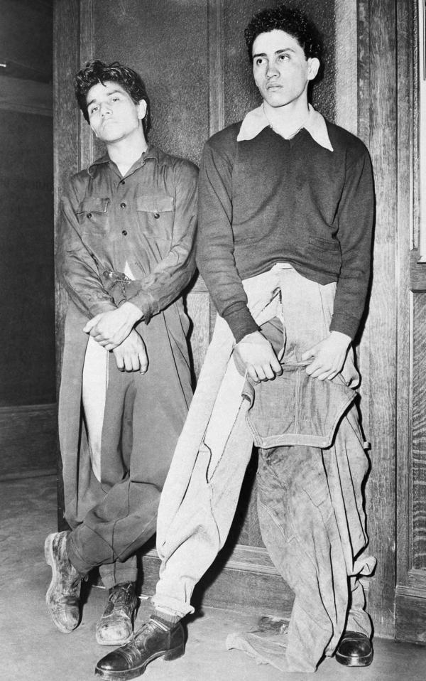 In 1943, Noe Vasquez and Joe Vasquez — both 18 years old but not relatives — told Los Angeles police that they were roughed up by sailors who tore their zoot suit-style clothes. And even after all that? <em>Swag</em>.